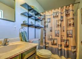 image of curtains lighthouse bathroom accessories