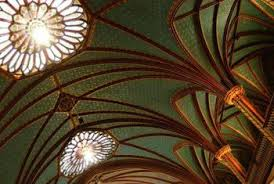 lighting for cathedral ceilings. not all cathedral ceilings are this grand but require proper lighting for