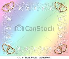 Party Invitation Background Image Wedding Or Party Invitation Rainbow Design Element For Valentine