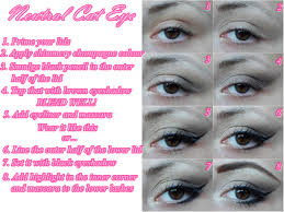 neutral cat eye step by step tutorial