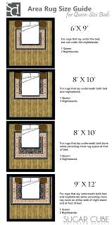 rug size for under king bed area rug size guide sizes sugar cube interior basics guides rug size for under king bed