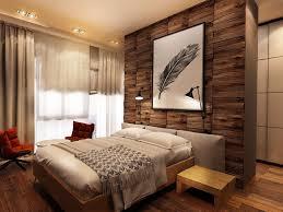 Rustikales Schlafzimmer Design Ideen Licht Braun Massivholz Eiche