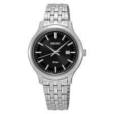 seiko watches men s ladies kinetic and solar h samuel seiko ladies black dial stainless steel bracelet watch product number 3562816