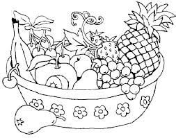 Coloring Pages Fruits And Vegetables Summer Fruit Coloring Pages