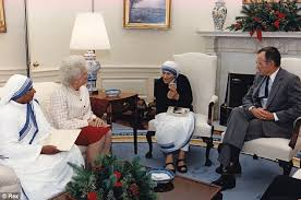 bush oval office. Barbara Bush, Mother Teresa And President George H.W. Bush In The Oval Office 1991
