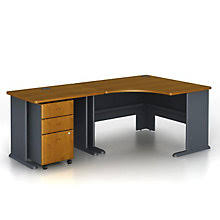 Series A Corner Desk With File - 84\  Office Furniture