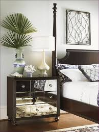 Bedroom Fabulous Gold Mirrored Nightstand Glass And Wood