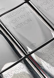 mirror covers featuring foiled and blind embossed typography for bmw by barber osgerby giftidea giveaways