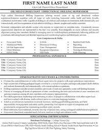 Oil field Consultant Resume Sample & Template