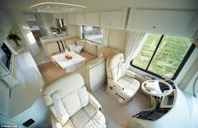 Incredible interior design ideas for your rv camper Camper Van Comfort The Driver Has Plenty Of Rooms To Stretch His Legs As He Sits Behind Lcitbilaspurcom The 12million Motorhome With Stateoftheart Kitchen Luxury