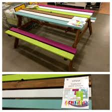Colourful Garden Bench Painted With The Valspar Garden
