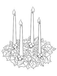 Click Advent Wreath Coloring Page For Printable Version Christmas