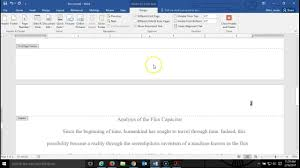 Microsoft Word Apa Header How To Make A Running Head In Apa Style With Ms Word
