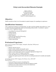Entry Level Accounting Resume Job Interviews