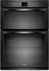 whirlpool woc54ec7ab 27 inch microwave combination wall oven with 4 3 cu ft self cleaning oven 1 4 cu ft microwave capacity steamclean option