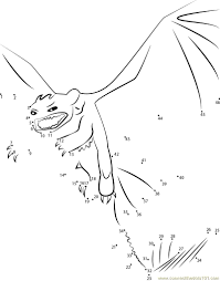 How to train your dragon - Toothless Angry dot to dot Printable ...