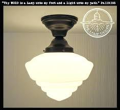 savoy house 6 1 schoolhouse light inch polished chrome semi flush mount ceiling glass lighting short schoolhouse flush mount light
