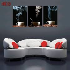Painting Canvas For Living Room Aliexpresscom Buy 3 Piece Coffee Wall Art Picture Modern