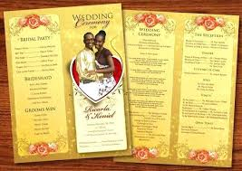 Wedding Reception Program Templates Wedding Party Program Template Onedaystartsnow Co