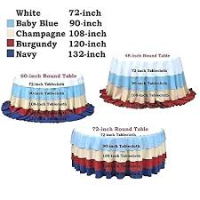 what size tablecloth for 48 inch round table inch round tablecloth sequin champagne blush elegant table