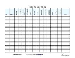 Vehicle Maintenance Record Book Fleet Vehicle Maintenance Log Truck Template Car Records Rbarb Co