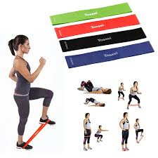 yoi set of 5 resistance bands exercises loop resistant stretch bands for workout stretching home fitness core strength yoga balance gym