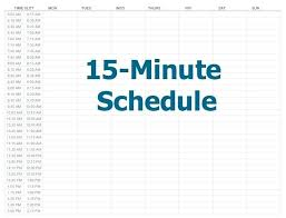 Schedule Book Template Daily Calendar Minute Increments Appointment Free Templates \\u2013 15