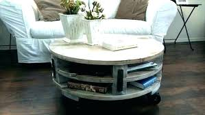 circle coffee table with storage rustic round tables pallet plans c