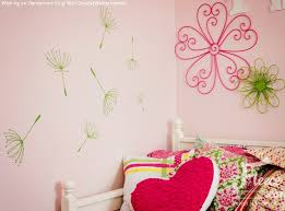 wall decals for girl room dandelion wall decals for girl room flowers amazing interior decoration handmade