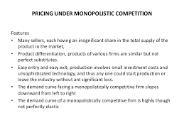 how to write papers about price determination under monopolistic contexts that give rise to elasticity and competition