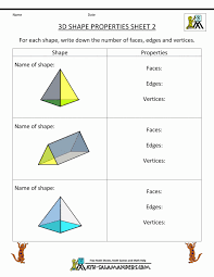 Free Geometryksheets Identify Shapes Math Grade Angles 4th For ...