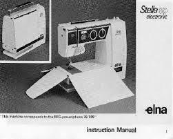 Elna 3007 Sewing Machine Instruction Manual