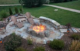 patio with fire pit. Overhead View Of Oval Flagstone Patio With Large Fire Pit Created A Series Huge