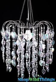 chandelier fountain crystal iridescent