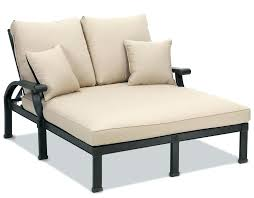 outdoor round double chaise patio lounge chair seana teak reclining
