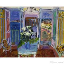 2018 landscapes oil paintings raoul dufy interior with open windows modern art for wall decor hand painted from kixhome 101 51 dhgate com