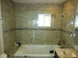 glass shower walls i accordion door surround home depot block wall cost