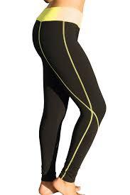 athletic works yoga pants neon hot pink capri cut leggings comfy color block athletic yoga