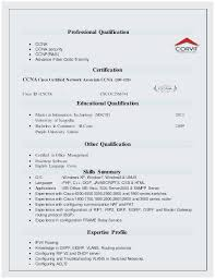 Resume For Freshers Custom Ccnp Resume Sample For Freshers Best Sample Resume For Ccna Freshers