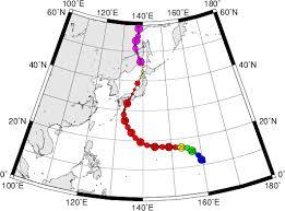 Typhoon Tracking Chart Digital Typhoon Typhoon 201821 Jebi General Information