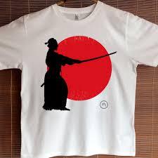Cotton T Shirt Design Fair Trade Unisex Organic Cotton Samurai Sunset T Shirt