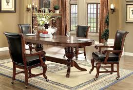 Game Table And Chairs Set Melina Brown Game Table Set Furniture Of America Furniture Cart