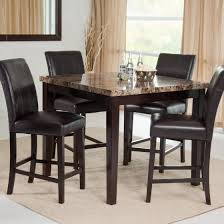 homelegance achillea counter height dining table marble top 721m awesome countertop dining room sets