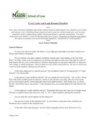 Cover Letter Checklist - George Mason University School of Law