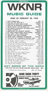 1969 Music Charts Wknr Top 31 Detroit Keener Hits This Week 02 1969