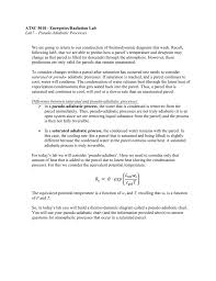 Thermodynamic Processes Chart Lab 7