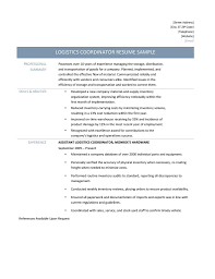 logistics coordinator resume samples tips and templates job description for everything you need to know about finding a better job as a logistics