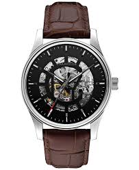 <b>Caravelle New York</b> by Bulova Men's Automatic Brown Leather ...