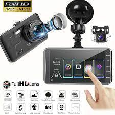 Camera Hành trình Ô tô, Camera Dual Lens DVR 1080p hỗ trợ full HD - tích  hợp màn hình cảm ứng (đen)- HÀNG NHẬP KHẨU XỊN