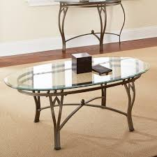 steve silver glass coffee table collection furniture piece oval coffee table set sets matt white